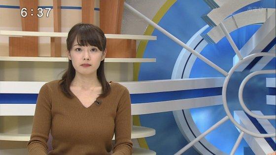 赤間優美子アナ デカ乳ニット★