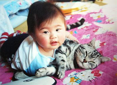 猫と赤ちゃん17