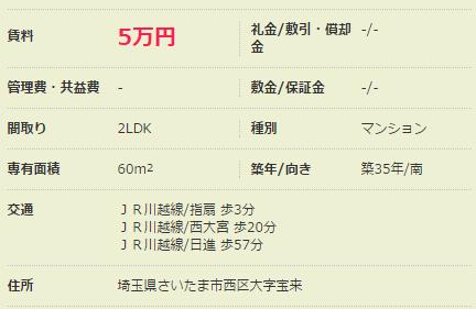 5万円台の賃貸ファミリーマンション