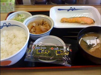松屋の朝食