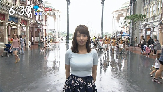 TBSの宇垣とかいう美人巨乳アナの乳がやばいwwwww