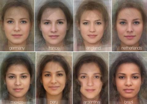 「美しすぎる?」 世界40カ国の平均的な女性の顔が判明(*^_^*)