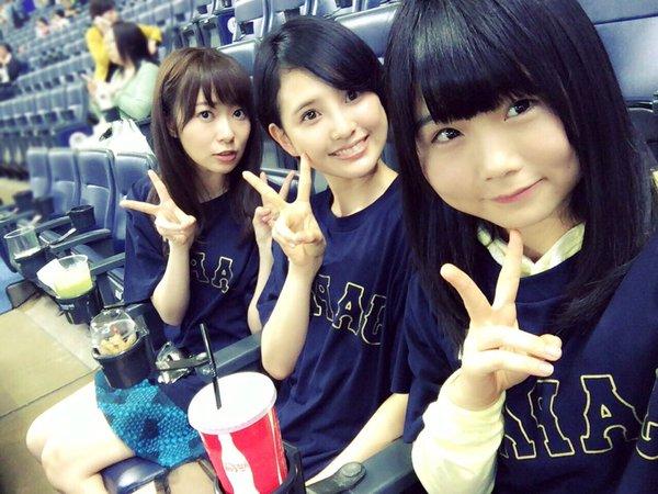 アイドルグループHKT48指原莉乃、兒玉遥、秋吉優花が観戦しているのは何のスポーツ