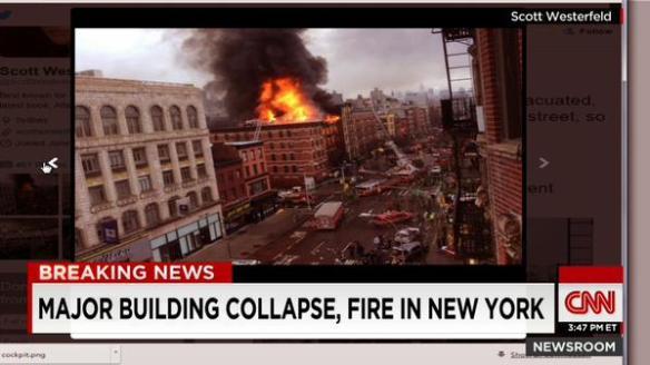 【速報】ニューヨークのマンハッタンでビルが爆発炎上中!!!(画像あり)