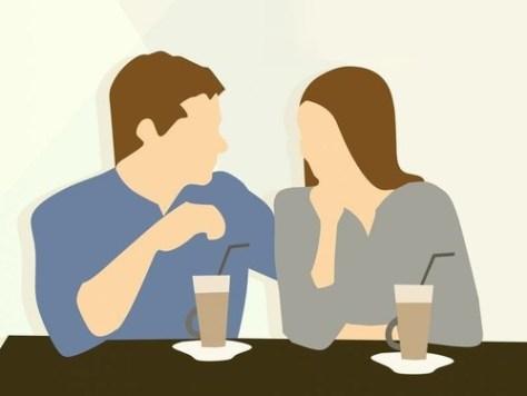 レストランの変なカップル