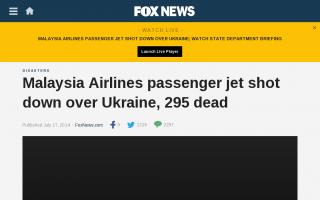 295人搭乗のマレーシア旅客機が墜落=ウクライナ東部、ロシア国境付近 地対空ミサイルで撃墜か?