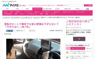 知り合った男性の運転免許証が「オートマ限定」88.7%の女性が「特に評価は下がらない」