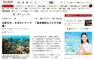 辺野古沖、まばゆいサンゴ「基地建設なら大きな影響」