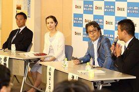 「民主党の存在意義」テーマに討論会 海江田代表「ネット上で政治議論は困難」小林よしのり氏「全部ネトウヨがバッシングしてくる」