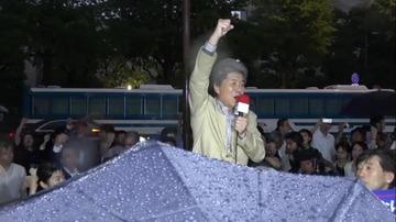 【悲報】鳥越俊太郎、演説の最中に記憶障害を発症wwwww