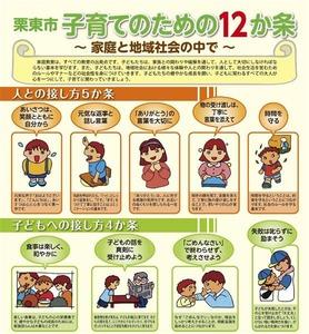 滋賀県栗東市が「子育てのための12か条」配布 → 大学教授「昔の男女観をイメージさせるイラストがある」と提訴…画像あり