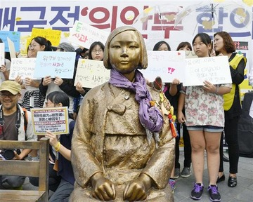 韓国の市民団体「日本が慰安婦合意に固執すれば少女像はさらに増える」