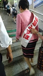 社民党・福島みずほ、たすきを付けたまま電車に乗車 → 「公職選挙法違反では?」と指摘されるとダッシュで逃亡wwwww