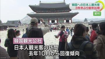 うるう年で韓国を訪れる日本人観光客がほんの少し増加 → NHK「日本との関係が改善されたため」と捏造報道