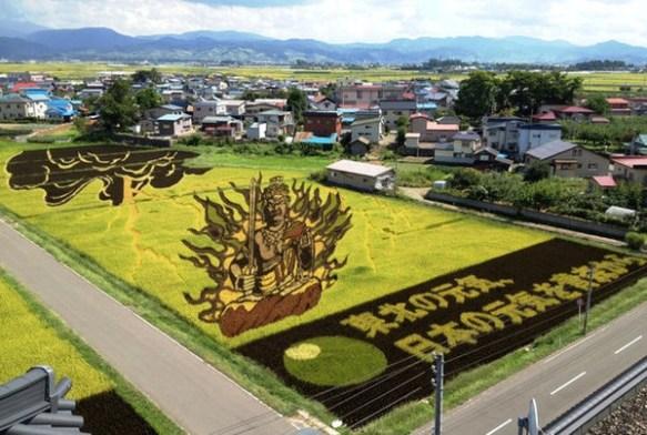 【これぞ芸術】 日本の 「田んぼアート」 が 凄 す ぎ る 件 wwwwwwwwwwwwwww