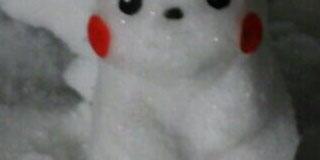 雪でピカチュウ作ったったったwwwwwww