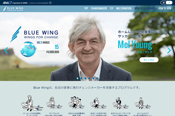 BLUE WING  WINGS FOR CHANGE