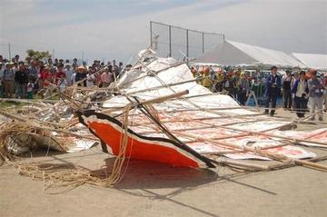 【滋賀】100畳敷きの大凧落下、7歳男児ら4人搬送…東近江大凧まつり