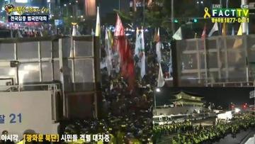 【韓国】セウォル号の遺族がソウル中心部で暴徒化、機動隊と交戦中