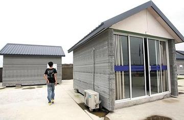 """【中国】わずか24時間で10戸の家を""""印刷""""、しかもエコ! 建築廃材を使った3Dプリント・ハウスが登場"""