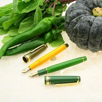京野菜の「鹿ケ谷かぼちゃ」と「万願寺とうがらし」とコラボした万年筆が登場!