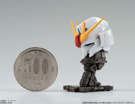 500円玉サイズのガンダムの頭部のフィギュアが食玩フィギュアコレクションに登場!