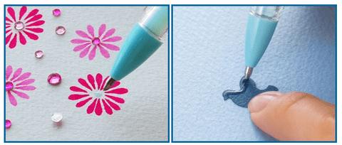 細かな部分にのり付けできるトンボ鉛筆のボールペン型液体のりが便利だと話題!