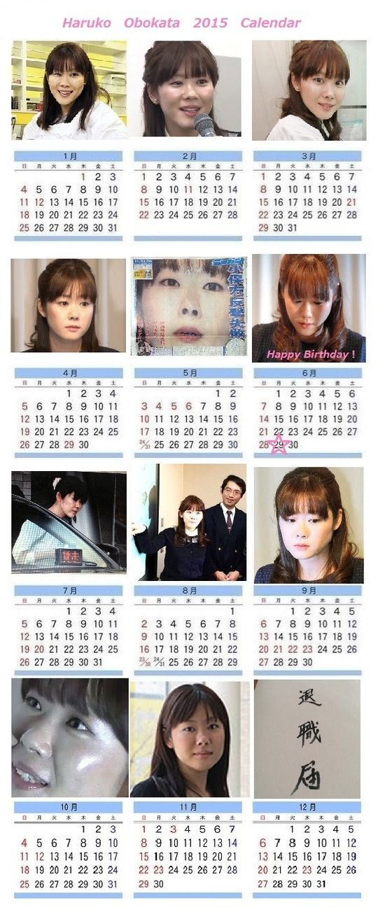 小保方晴子のカレンダー2015年版