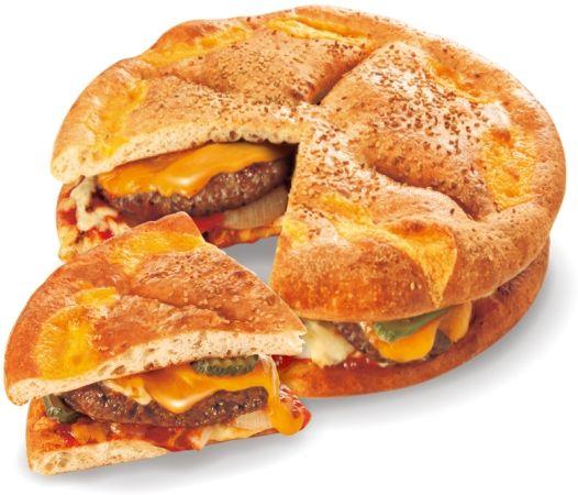 1.2kg の「メガバーガーピザ」が登場 (m9 ´)Д(`)