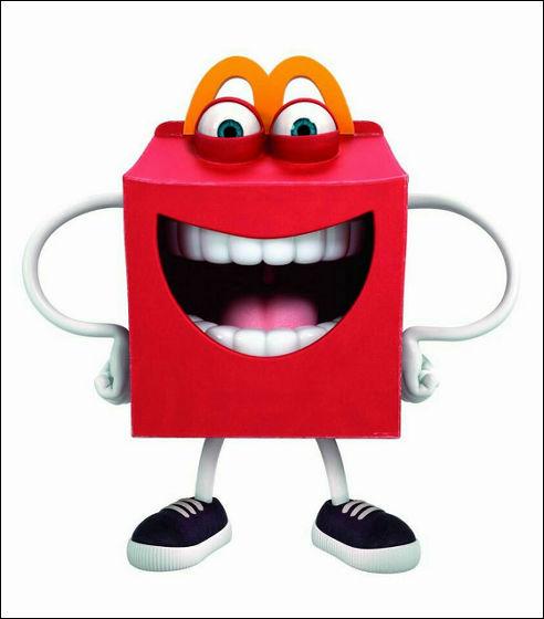 マクドナルドの新キャラクター「Happy」が怖すぎると話題