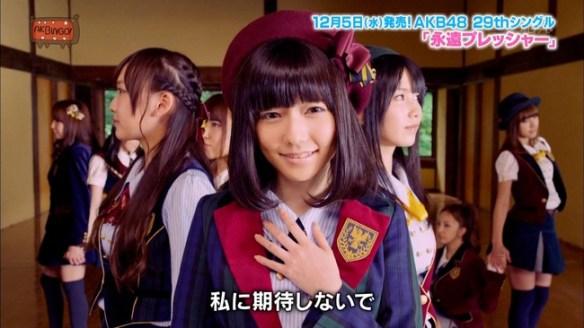 AKB48永遠プレッシャーMVがTV初公開 上野圭澄が良いポジ