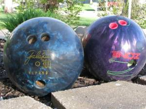 bowling ball before