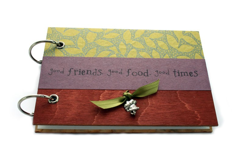 Handmade recipe book live inspired now there is nothing better than making family recipes i made my mom a handmade recipe book with a 3 ring binder that i decorated and i made one for myself solutioingenieria Choice Image