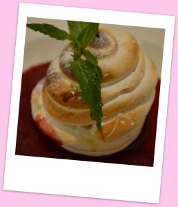 Summer berry baked Alaska