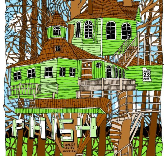 phish great woods poster
