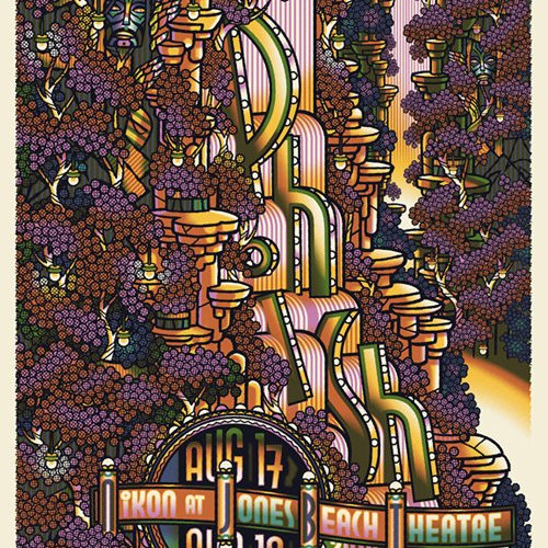 phish jones beach poster