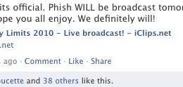 iclips phish broadcast