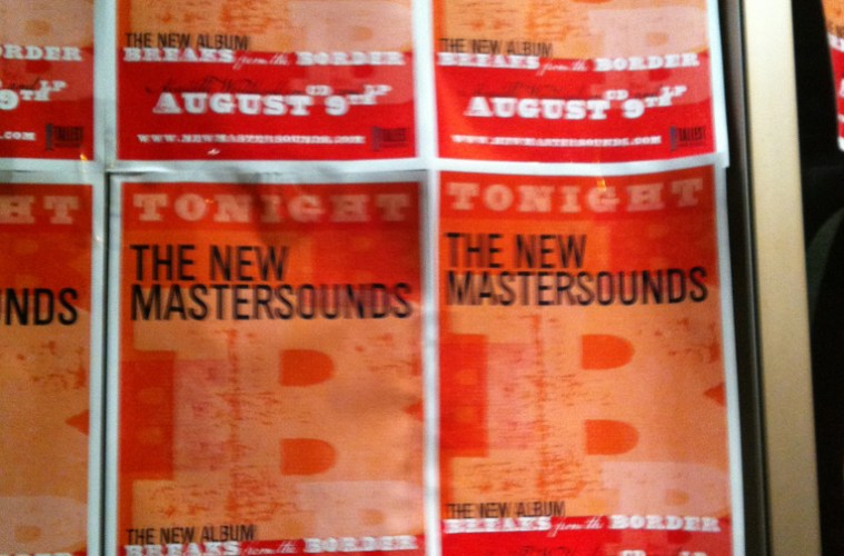 The New Mastersounds @ Brick & Mortar (signage)
