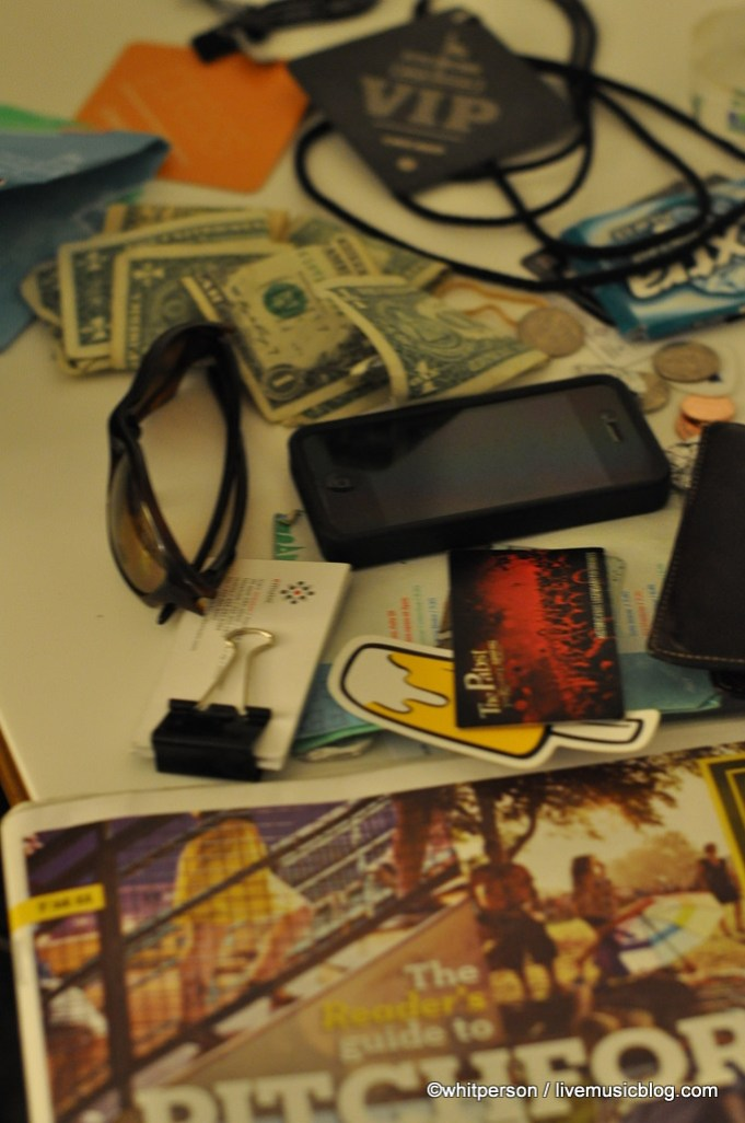 Post-Festival Pocket Dump - Pitchfork Music Festival 2011