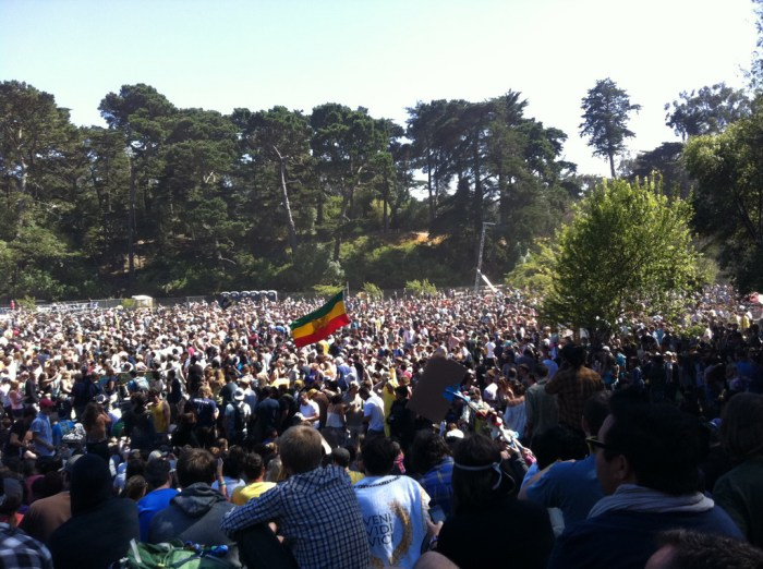 Crowd for !!! @ Outside Lands 2011