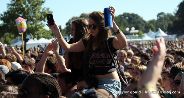 iPhone and beer in hand, it's definitely an in-town festie