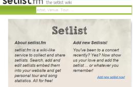 setlist.fm
