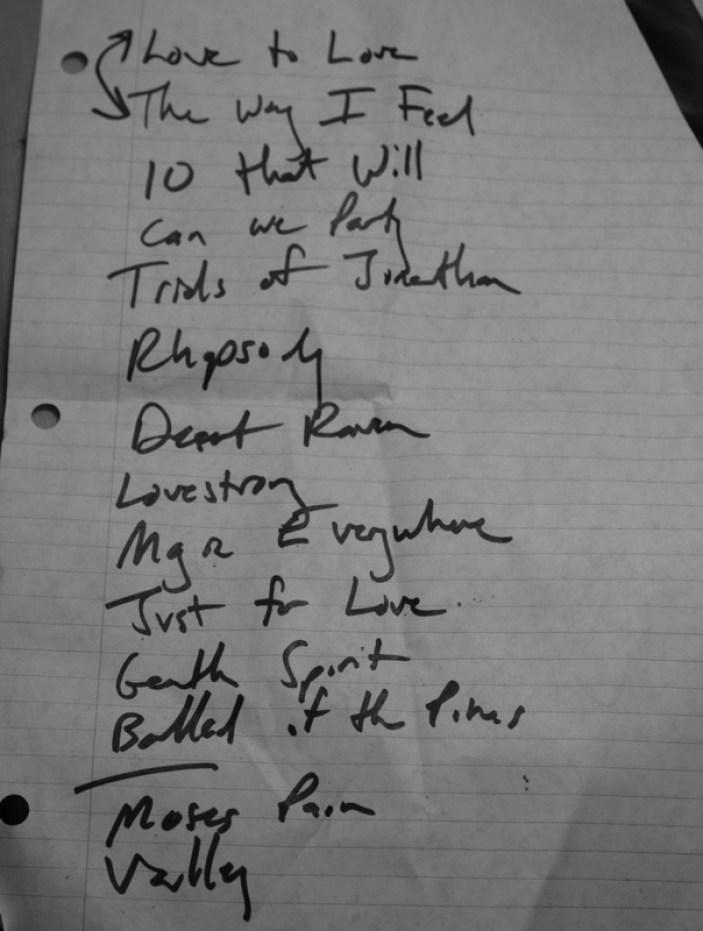 Setlist 5.28.12