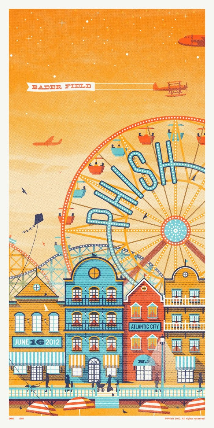 phish bader field poster night 2