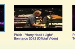 phish bonnaroo videos