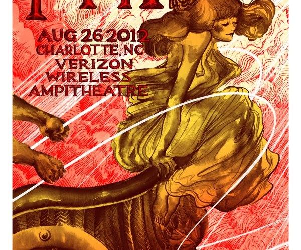 phish charlotte nc poster