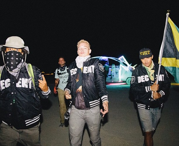 Diplo + Major Lazer crew @ Burning Man 2013