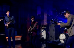 white denim on letterman