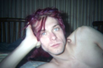 An unseen image of Kurt Cobain at home featured in the film KURT COBAIN: MONTAGE OF HECK   © The End of Music, LLC