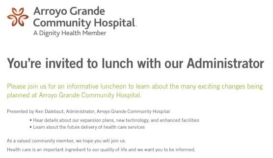 Highly Recommended - Arroyo Grande Community Hospital